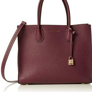 Michael Kors Mercer Satchel Crossbody PLUM